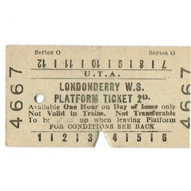 platform ticket uta londonderry w s 2d serial no 4667